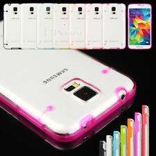 See-Though Rugged Hard Candy Shell Case Cover For Samsung Galaxy S V S5 i9600