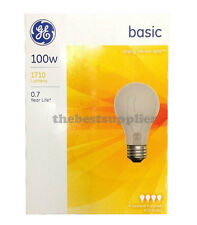 GE 100 Watt Soft White Light Bulbs - Household Incandescent - Choose Your Count