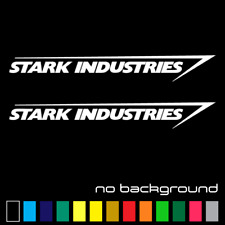 (2x) Stark Industries Sticker Vinyl Decal - Marvel Iron Man Avengers Car Window