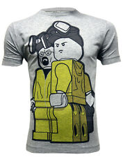 *UK Fit Breaking Bad Inspired Harzard Suit Men's Grey T-shirt. Like Lego Figures