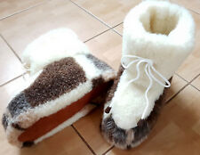 Unisex Slippers Boots Pure Sheep Wool  4 5 6 7 8 9 10 11 12 13 gift shoes