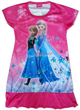 Disney Frozen Elsa Anna Children Kids Party Dress Pajama Girls Skirt 3-9 Years