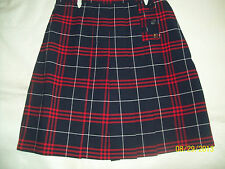 Girls' Red/Navy Plaid Plus Size French Toast School Uniform Skorts, & Jr