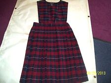 Girls' Red/Navy Plaid Cotton Blend French Toast School Uniform Plus Size Jumpers