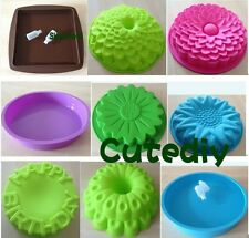 Square Sunflower Round Pan Cake Mold Flexible Silicone Mould for ice lattice
