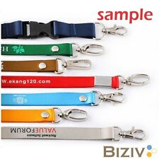 1 pc sample lanyard red black blue green purple /non personalized custom