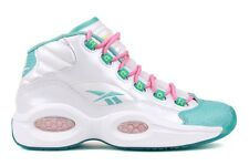 Reebok Question Mid Girls M43195 Youth GS Kids White Blue Pink Basketball Shoes