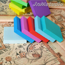 """Set of 8 1.97""""x0.39"""" square rubber stamp carving blocks, DIY for your own stamp"""