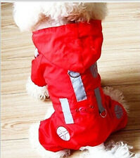 dog clothes small dog pet red hoodied raincoat suit for 4-leg free shpping XXS-L