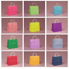 Paper Party Gift Bags with Twisted Coloured Handles - LARGE (32cmx41cmx12cm)