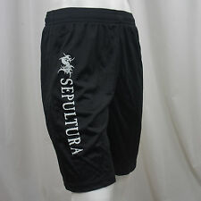 Authentic SEPULTURA Band Tribal S Logo Mesh Athletic Gym Shorts S M L XL NEW