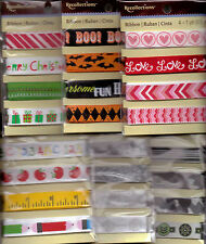 Recollections Ribbon sets of 4 different ribbons~ Several THEMED Varieties~Nice!