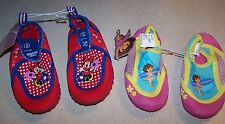 NWT DISNEY NICKELODEON Minnie Mouse or Dora Explorer WATERSHOES size 5 6