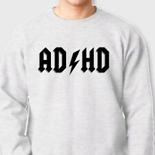 AD/HD Funny Rock and Roll Classic T-shirt ACDC Hyper Crew Neck Sweatshirt