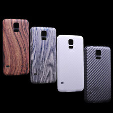 Carbon Fiber Wood Housing Back Case Battery Cover For Samsung Galaxy S5 V i9600