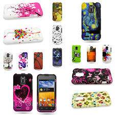 Custom Design Hard Rubber Plastic Snap On Phone Cover Case For ZTE Warp LTE