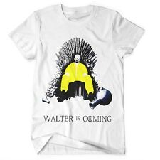 Heisenberg vs Game Of Thrones T Shirt Walter Is Coming Tee Cartoon Breaking Bad