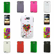 For Samsung GALAXY NOTE LTE I717 N7000 Variety Hard Shell Rubber or Design Case