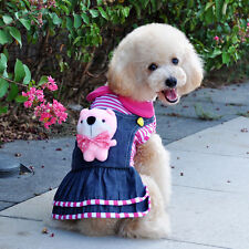 Good new small girl dog pet clothes apparel princess pink dress free ship XXS-L