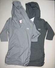 Under Armour Womens UA Shape Up Hoodie Soft Lightweight 3/4 Sleeve Shirt 1239608