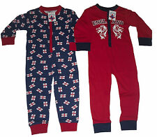 BOYS PYJAMAS ONESIE ALL IN ONE ENGLAND 2 3 4 5 6 7 8 9 10 11 & 12 YEARS