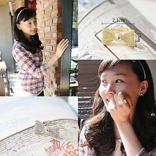 Lovely Girls Finger Rings Fashion Jewelry Bow Shaped Ring Adjustable Cycle 1PCS