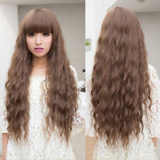 Beauty Fashion Womens Lady Long Curly Wavy Hair Full Wigs Cosplay Party M2