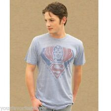 Superman Fan Club Licensed DC Comics Junk Food Tri-blend Adult Shirt