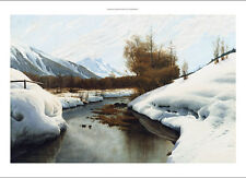 PEDER MONSTED Near La Punt St. Morritz in the Engadine Valley NEW CANVAS PRINT