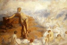 """GEORGE SPENCER WATSON """"Prometheus Consoled"""" CHAINED naked shelley CANVAS PRINT"""