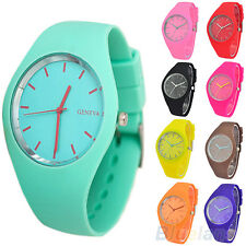 Womens Perfect Super Soft Jelly Silicone Sports Watch Students Wrist Watch BC7K