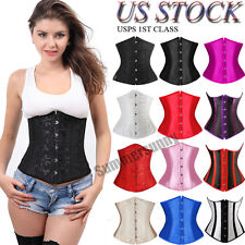 8 Styles Lace Up Steel Busk Waist Training Underbust Corset top Plus S-6XL H1