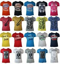 Mens Slim Fit Fitted T Shirts Casual Summer Skull Designer Logo Bling Cards Base