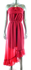 NEW RUBY ROX sexy FASHION Strapless Asymmetrical Ruffle Dress *PLUS SIZE* 1X, 2X
