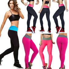 Women's Sexy Black High Waist Tights YOGA Sport Running Pants Fitness Leggings