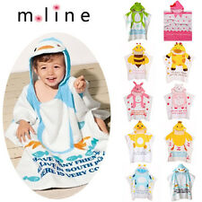 Baby Girl Boy Children's Cotton Cute Animal Pattern Bath Towel Hooded Bathrobes