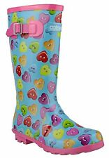 Cotswold Childrens Girls Boots Wellies Plain Rubber Wellingtons Rubber Slip On
