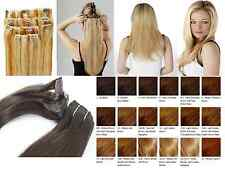 Full Head Clip in Remy Human Hair Feel Not  Human Hair  Extensions All Colours