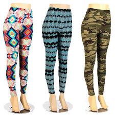 Plus Size Print Leggings Soft Tribal Aztec Design Ladies Stretch Pant XL 2XL 3XL