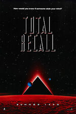 "Poster Film D'action Promotionnel Clasique 1990 SciFi ""TOTAL RECALL"" Taille A1-4"