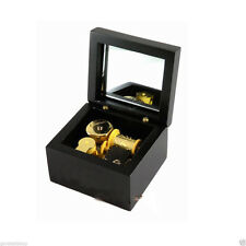 Wooden 18 Note Wind-up Music Box with Mirror Play Lilium of Elfen Lied