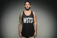 Phoenix Clothing Tank Top Wstd - # Just Wasted ASAP Hype Hipster Gym - Black