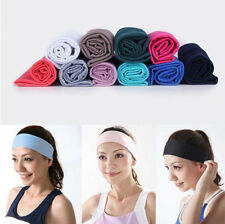"Cotton 2.5"" Wide Women Yoga Sport Headband Stretch Hairband Elastic Hair Band"