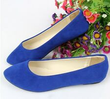 Women Ballerina Loafers Suede Slip on Dolly Slippers Moccasin Pointed flat Shoes