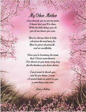 Mom, My Other Mother Personalized Poem Gift For Birthday, Christmas 8 Designs