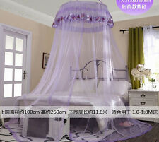 Mosquito Net Fly Insect Protection Canopy Single Entry Twin Queen King Purple