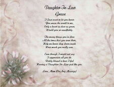 Personalized Poem for Daughter-In-Law Gift For Birthay, Christmas