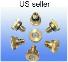 "Brass Misting Nozzles for Cooling System 0.012"" (0.3 mm) 10/24 Lot 5, 10"