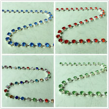 SS28 (6.0mm) Various Colors Point back Rhinestone Chain Crystal Cup Silver 1M