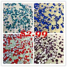 MIXED Sizes Various Colors Flatback Rhinestone Crystal Glass Chatons 8g